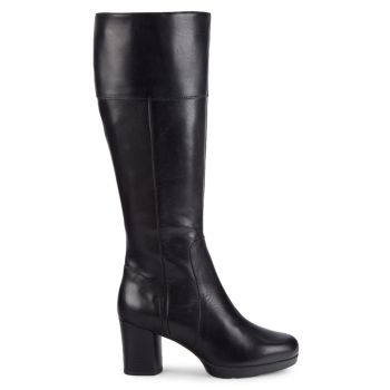 Anylla Leather Knee-High Boots Geox