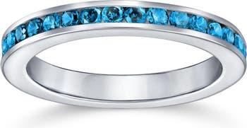 Серебряное кольцо London Blue CZ Eternity Bling Jewelry
