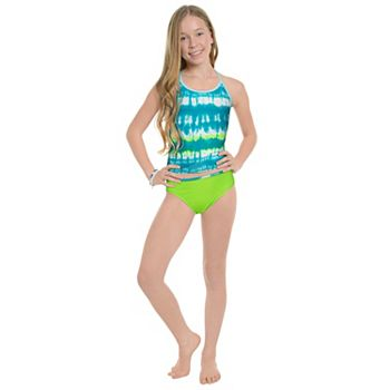 Girls 7-16 Under Armour Tie-Dye Striped Tankini Top & Bottoms Swimsuit Set Under Armour