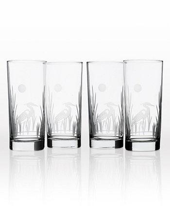 Heron Cooler Highball 15 унций - набор из 4 стаканов Rolf Glass