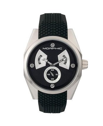 Серия M34, серебряные / черные силиконовые часы, 44 мм Morphic