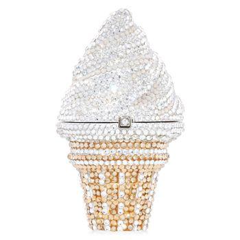 Коробочка для пилюль с ванильным кристаллом конуса мороженого Judith Leiber