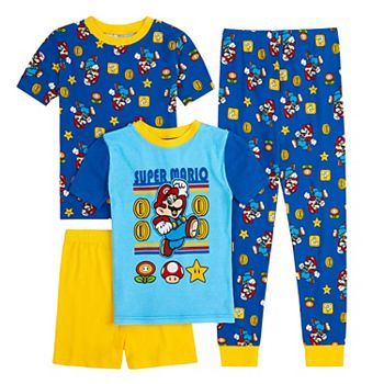 Boys 4-10 Nintendo Mario Tops, Shorts & Pants Pajama Set Licensed Character