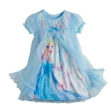 Комплект ночной рубашки и халата для девочек в общежитии Disney's Frozen Elsa Disney