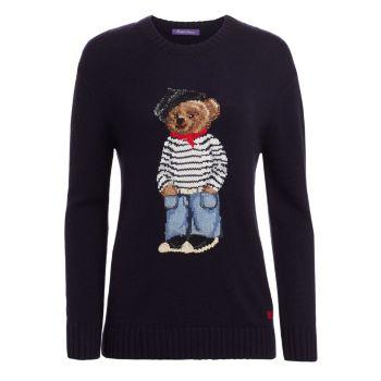 Свитер Marseille Bear с круглым вырезом Ralph Lauren Collection