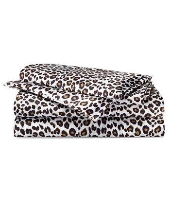 Набор простыней из атласа с леопардовым принтом Betseys Betsey Johnson