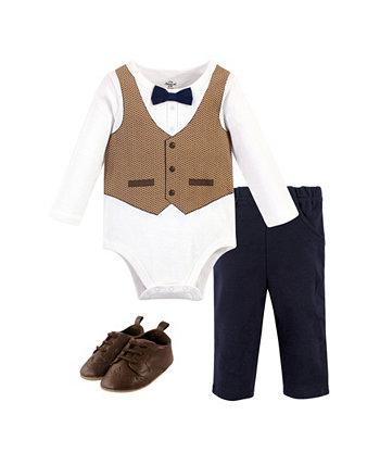 Боди для мальчиков, комплект с брюками и обувью, набор из 3 шт Little Treasure