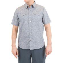 Мужская рубашка стандартного кроя из шамбре с цветочным принтом Mountain and Isles на кнопках Mountain And Isles