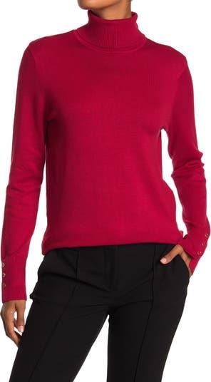 Свитер-пуловер с воротником под горло и пуговицами JOSEPH A