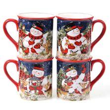 Certified International Magic of Christmas Snowman 4-pc. Mug Set Certified International