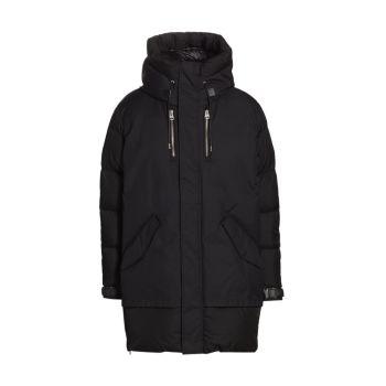 Водоотталкивающее пуховое пальто из смешанной ткани Simon Mackage
