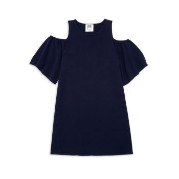 Girl's Flutter-Sleeve Knit Dress Milly Minis