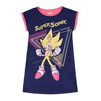 Girls 4-16 Super Sonic Nightgown Licensed Character