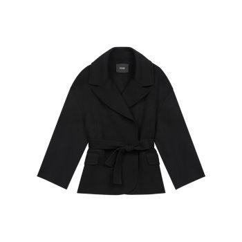 Двустороннее пальто с поясом Maje