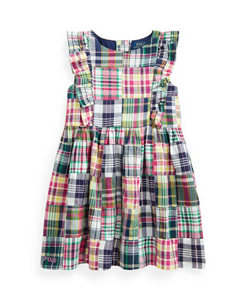 Платье Madras в стиле пэчворк для маленьких девочек Ralph Lauren
