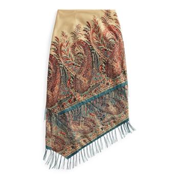 Многослойная юбка с бахромой и принтом пейсли Ralph Lauren