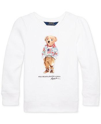 Толстовка из флиса Little Girls Polo Bear Ralph Lauren
