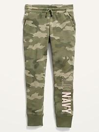 Спортивные брюки-джоггеры для девочек с винтажным логотипом Old Navy