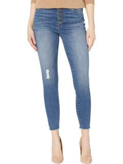 Кожаные джинсы Connie с завышенной талией и открытой пуговицей в цвете Reinstate KUT from the Kloth