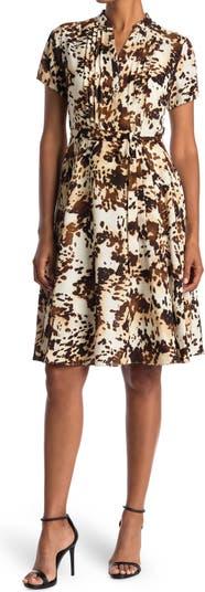 Платье-рубашка с короткими рукавами и складками Nanette nanette lepore