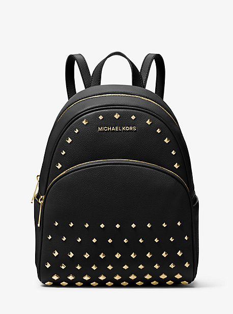 Abbey Medium Studded Pebbled Leather Backpack Michael Kors