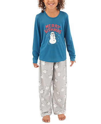 Семейный пижамный комплект Matching Kids Holiday Merry Sithmas Munki Munki