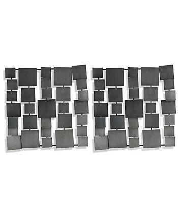Серые металлические квадратные панели - набор из 2 шт. StyleCraft