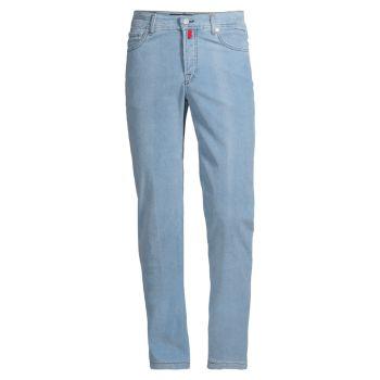 Вельветовые брюки с прямыми штанинами Kiton