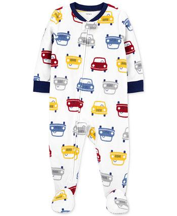 Цельнокроеная флисовая пижама из флиса для маленьких мальчиков Carter's