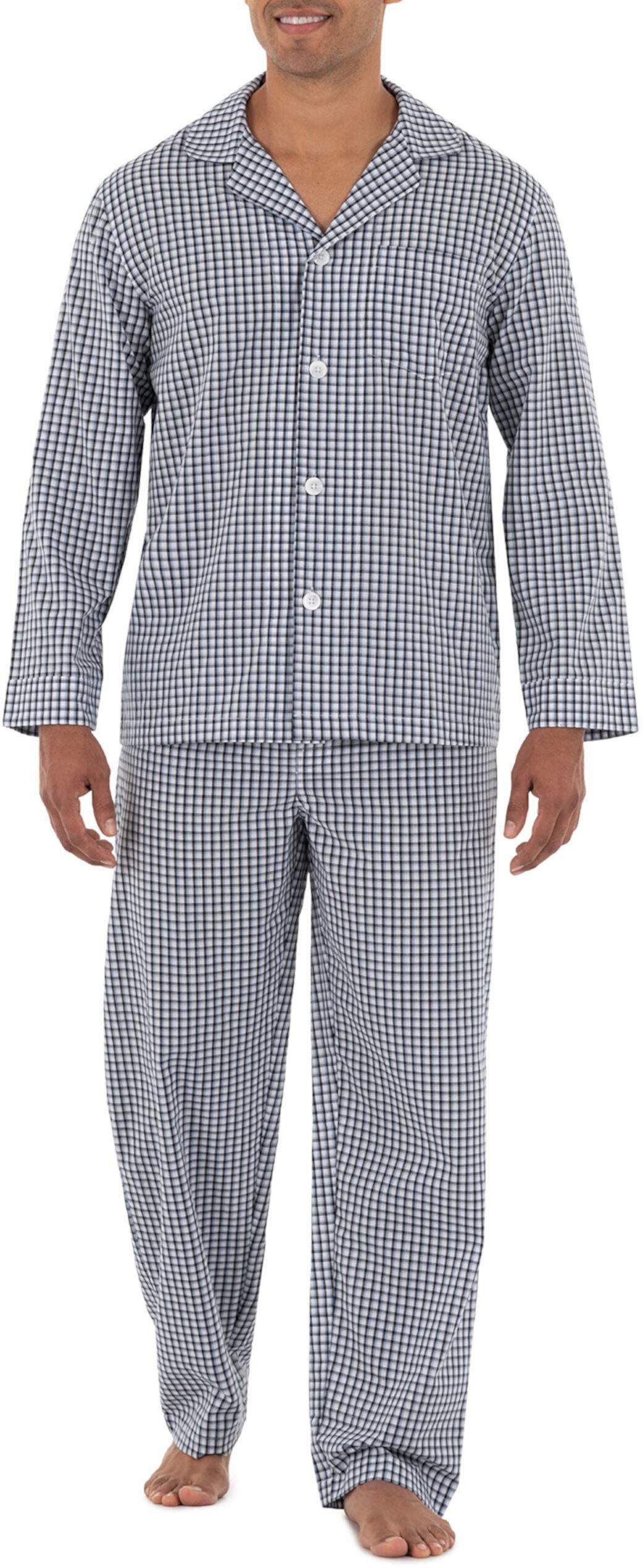 Long Sleeve Broadcloth Pajama Set Fruit of The Loom