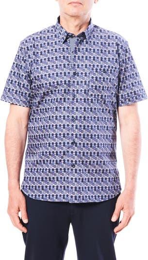 Спортивная рубашка с восьмиугольным принтом с короткими рукавами Toscano