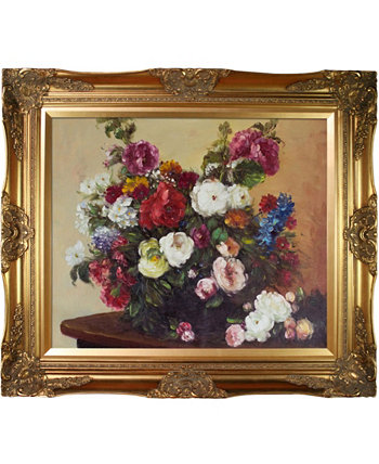 "By Overstockart Bouquet of Diverse Flowers with Victorian Frame, 28"" x 32"" La Pastiche"