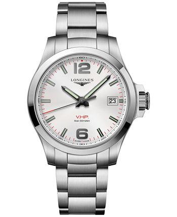 Мужские часы Swiss Conquest VHP с браслетом из нержавеющей стали, 41 мм Longines