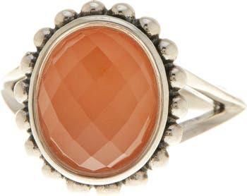 Серебряное овальное кольцо с дублетом сердолика - Размер 7 LAGOS