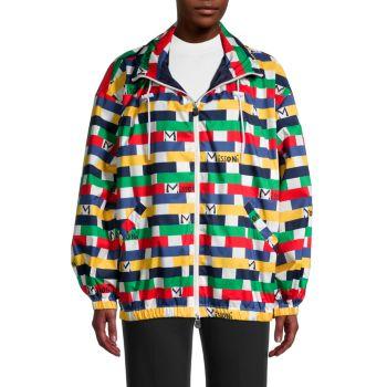 Geometric Logo-Print Jacket M Missoni