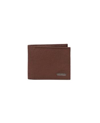 Мужской кожаный кошелек RFID с центральным крылом в подарочной коробке CHAMPS