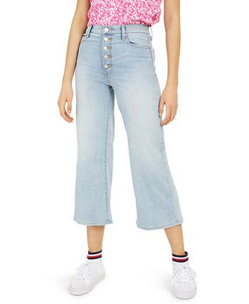 Укороченные джинсы с широкими штанинами Fly Button Tommy Jeans