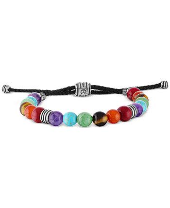 Разноцветный браслет-боло из бисера из стерлингового серебра Esquire Men's Jewelry