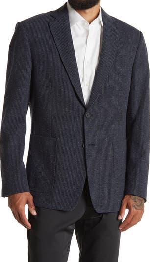Rustin Navy/Blue Striped Two Button Notch Lapel Sport Coat Billy Reid