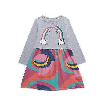 Маленькая девочка & amp; Платье-двойка для девочек Birdie Rainbow Twofer Appaman