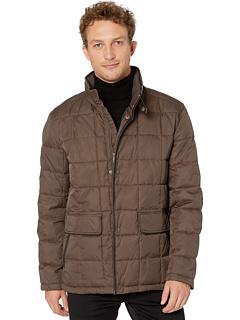 Утепленная стеганая куртка City Puffers 26,5 дюйма с карманами с клапанами Cole Haan