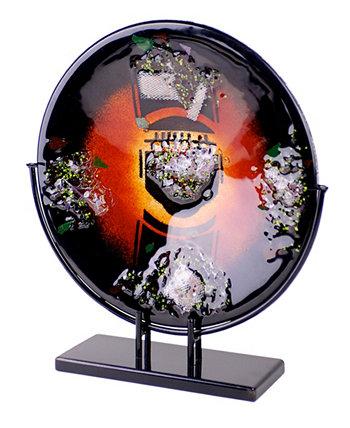 15-дюймовая круглая тарелка Jasmine Art Glass