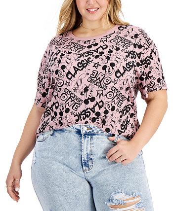 Модная футболка большого размера с изображением Микки Мауса Freeze 24-7