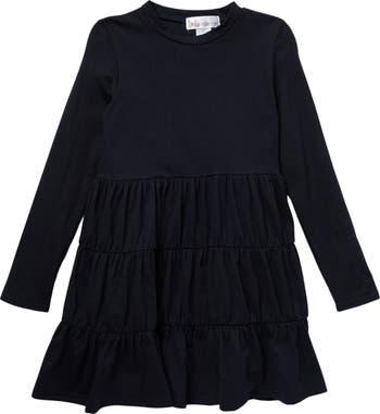 Многослойное платье со сборками с длинными рукавами Cotton Emporium