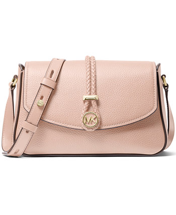 Кожаная сумка через плечо Lea среднего размера с клапаном Michael Kors