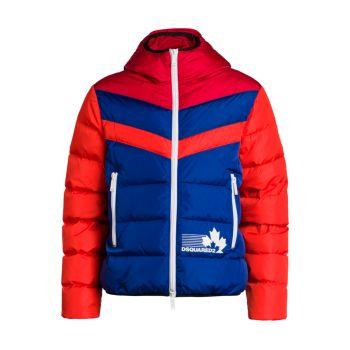 Куртка на молнии с цветными блоками DSQUARED2