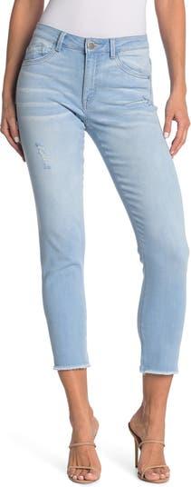 Бесшовные джинсы до щиколотки с высокой посадкой Democracy