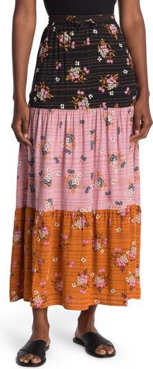 Многослойная макси-юбка с цветочным принтом Daniel Rainn