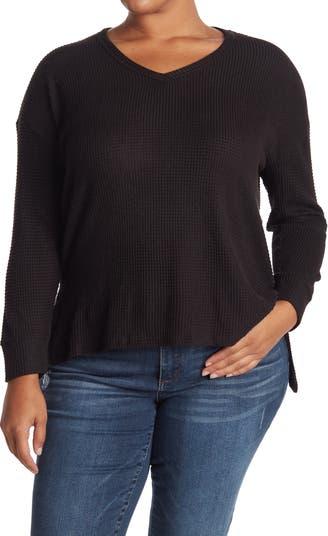 Вязаный свитер с длинными рукавами и заниженными плечами Workshop