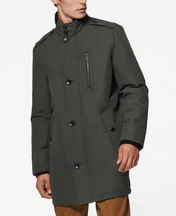 Мужское пальто из твила в стиле милитари Cullen Oxford с отделкой в рубчик Marc New York by Andrew Marc